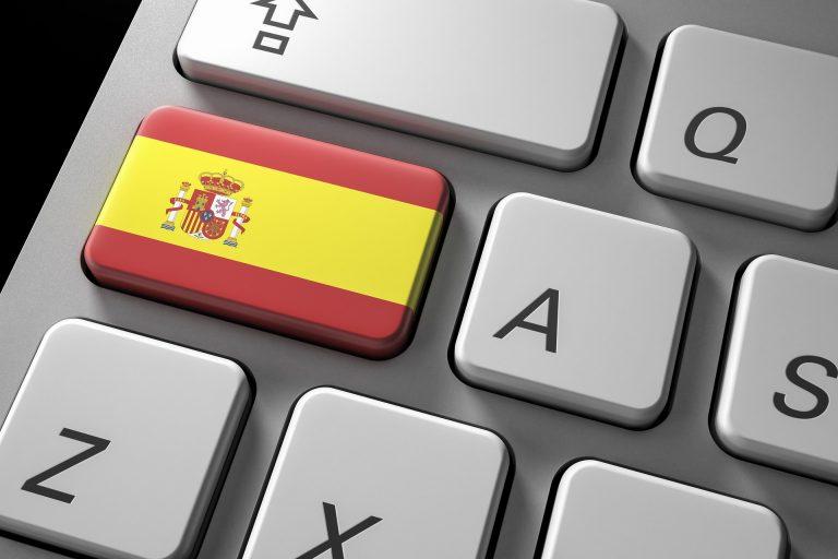Spanish flag on a keyboard